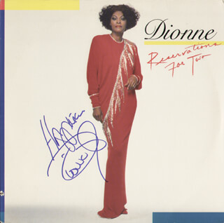 DIONNE WARWICK - RECORD COVER SIGNED