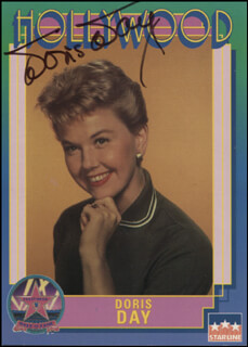 Autographs: DORIS DAY - TRADING/SPORTS CARD SIGNED