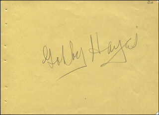 GEORGE GABBY HAYES - AUTOGRAPH