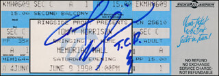 TOMMY MORRISON - TICKET SIGNED CIRCA 1990