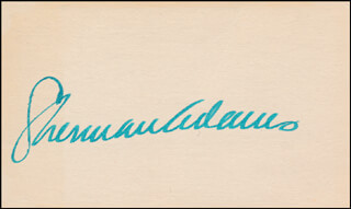 Autographs: SHERMAN THE ICEBERG ADAMS - SIGNATURE(S)