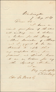 Autographs: CALEB CUSHING - AUTOGRAPH LETTER SIGNED 08/07/1807