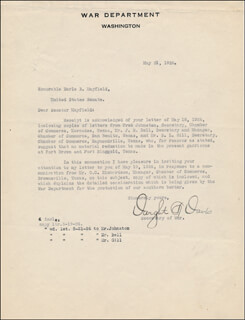 Autographs: DWIGHT F. DAVIS - TYPED LETTER SIGNED 05/21/1926