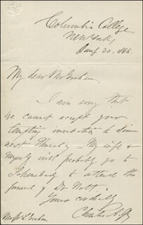 CHARLES A. JOY - AUTOGRAPH LETTER SIGNED 08/30/1866