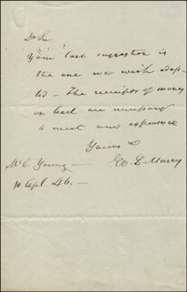 WILLIAM L. MARCY - AUTOGRAPH LETTER SIGNED 04/10/1846