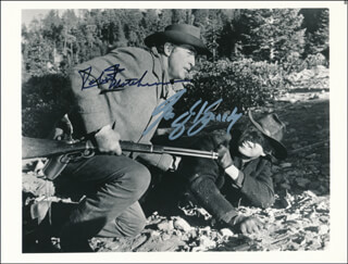 THE GOOD GUYS AND THE BAD GUYS MOVIE CAST - AUTOGRAPHED SIGNED PHOTOGRAPH CO-SIGNED BY: GEORGE KENNEDY, ROBERT MITCHUM