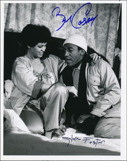 TOP SECRET TV CAST - AUTOGRAPHED SIGNED PHOTOGRAPH CO-SIGNED BY: BILL COSBY, GLORIA FOSTER