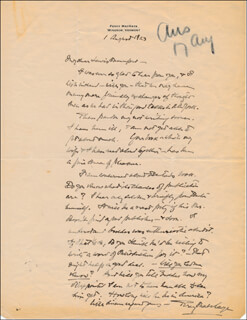PERCY WALLACE MACKAYE - AUTOGRAPH LETTER SIGNED 08/01/1923
