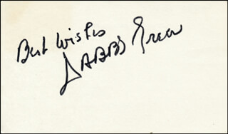 DABBS GREER - AUTOGRAPH SENTIMENT SIGNED