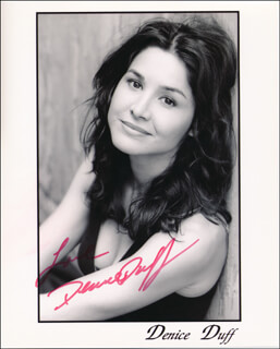 DENICE DUFF - AUTOGRAPHED SIGNED PHOTOGRAPH