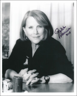 JULIE HARRIS - AUTOGRAPHED SIGNED PHOTOGRAPH 2009