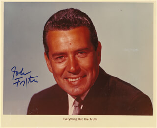 JOHN FORSYTHE - PRINTED PHOTOGRAPH SIGNED IN INK