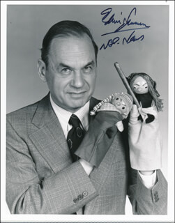 EDWIN NEWMAN - AUTOGRAPHED SIGNED PHOTOGRAPH