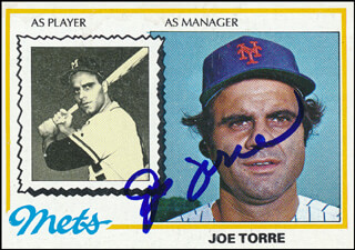 Autographs: JOE TORRE - TRADING/SPORTS CARD SIGNED
