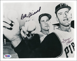THE PITTSBURGH PIRATES - AUTOGRAPHED SIGNED PHOTOGRAPH CO-SIGNED BY: BOB WARRIOR FRIEND, VERN DEACON LAW