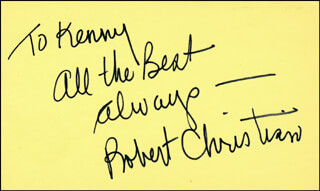 ROBERT CHRISTIAN - AUTOGRAPH NOTE SIGNED