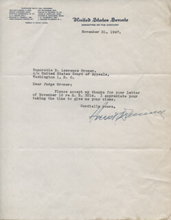 Autographs: FORREST C. DONNELL - TYPED LETTER SIGNED 11/21/1947