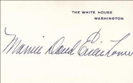 Autographs: FIRST LADY MAMIE DOUD EISENHOWER - WHITE HOUSE CARD SIGNED