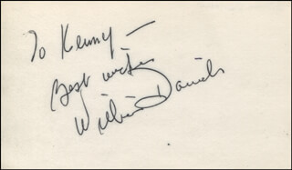 WILLIAM DANIELS - AUTOGRAPH NOTE SIGNED