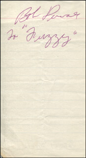 ROBERT DUVALL - INSCRIBED SIGNATURE