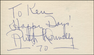RUTH DONNELLY - AUTOGRAPH NOTE SIGNED 1970