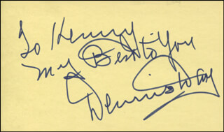 DENNIS DAY - AUTOGRAPH NOTE SIGNED