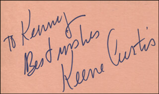 KEENE CURTIS - AUTOGRAPH NOTE SIGNED