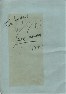 EARL CARROLL - INSCRIBED SIGNATURE 1934