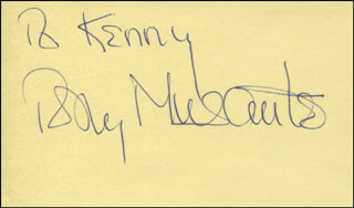 TONY MUSANTE - INSCRIBED SIGNATURE