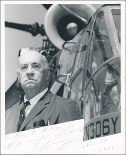 IGOR SIKORSKY - AUTOGRAPHED INSCRIBED PHOTOGRAPH 11/19/1964
