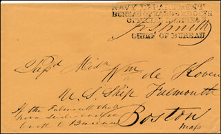 Autographs: ADMIRAL JOSEPH R. SMITH - ENVELOPE SIGNED 05/09/1849
