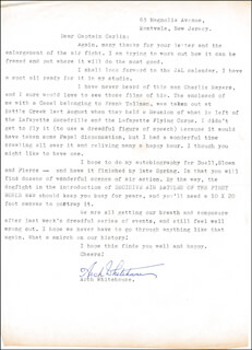 ARCH WHITEHOUSE - TYPED LETTER SIGNED