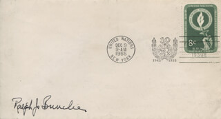 Autographs: RALPH J. BUNCHE - FIRST DAY COVER SIGNED