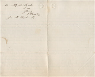 Autographs: CALEB CUSHING - AUTOGRAPH LETTER SIGNED 09/30/1868