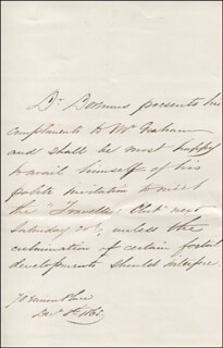 ROBERT OGDEN DOREMUS - THIRD PERSON AUTOGRAPH LETTER 12/08/1865