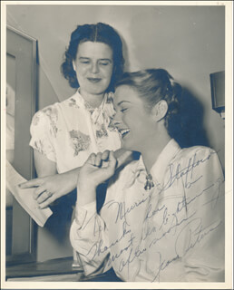 JEAN PETERS - AUTOGRAPHED INSCRIBED PHOTOGRAPH