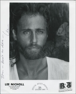LEE NICHOLL - AUTOGRAPHED INSCRIBED PHOTOGRAPH
