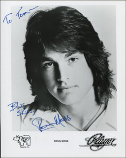RONN MOSS - AUTOGRAPHED INSCRIBED PHOTOGRAPH