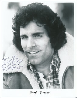 JOE AL NICASSIO - AUTOGRAPHED INSCRIBED PHOTOGRAPH