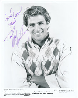 TED McGINLEY - AUTOGRAPHED INSCRIBED PHOTOGRAPH