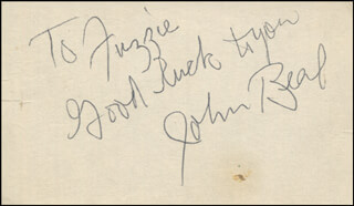 JOHN BEAL - AUTOGRAPH NOTE SIGNED