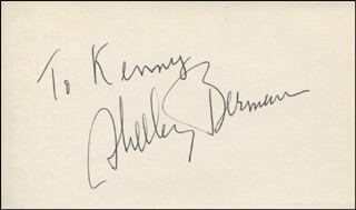 SHELLEY BERMAN - INSCRIBED SIGNATURE