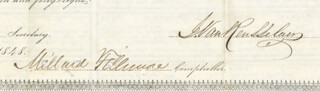 Autographs: PRESIDENT MILLARD FILLMORE - BOND SIGNED 09/15/1848 CO-SIGNED BY: ARCHIBALD CAMPBELL, J. W. FAIRFIELD, J. VAN RENSSELAER