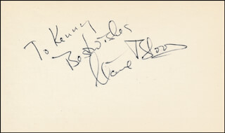 CLAIRE BLOOM - AUTOGRAPH NOTE SIGNED