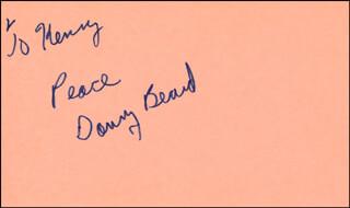 DANNY BEARD - AUTOGRAPH NOTE SIGNED