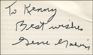 GENE GALVIN - AUTOGRAPH NOTE SIGNED