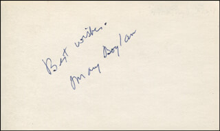MARY BOYLAN - AUTOGRAPH SENTIMENT SIGNED