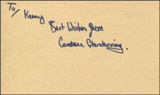 CANDACE GLENDENNING - AUTOGRAPH NOTE SIGNED