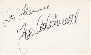 ZOE CALDWELL - INSCRIBED SIGNATURE
