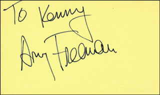 ARNY FREEMAN - INSCRIBED SIGNATURE
